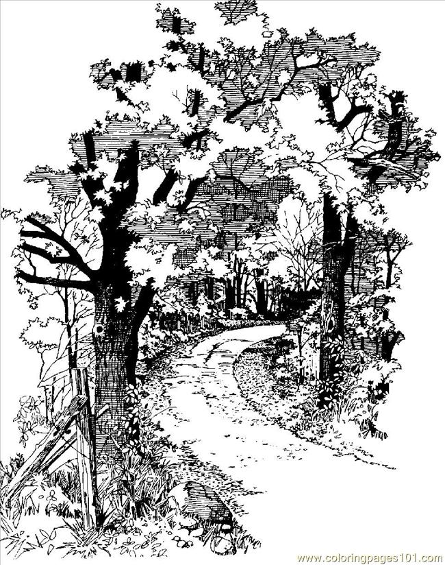 Dirt Road Coloring Page