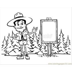 Forest Ranger Black And White