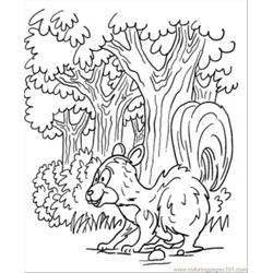 Skunk In Forest Free Coloring Page for Kids