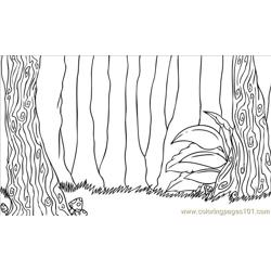 To Draw A Forest Scene Step 7 coloring page