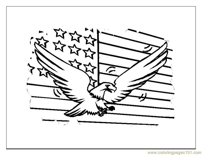 Fourth July General Coloring Page