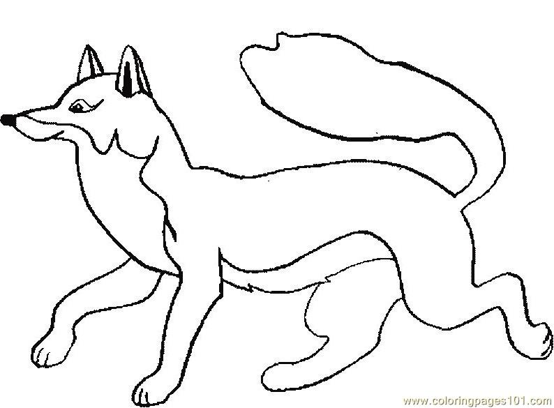 Fox Coloring Page Free Fox Coloring