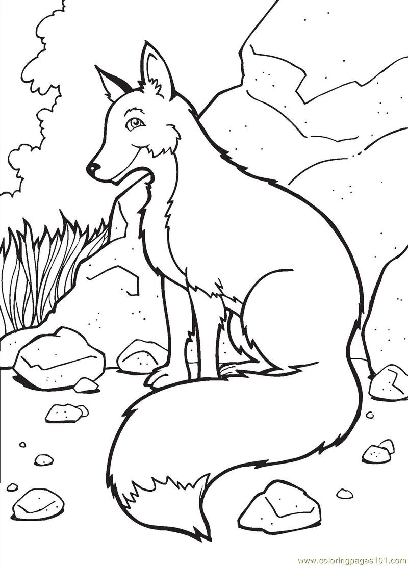 Fox Coloring Page Free Fox Coloring Pages