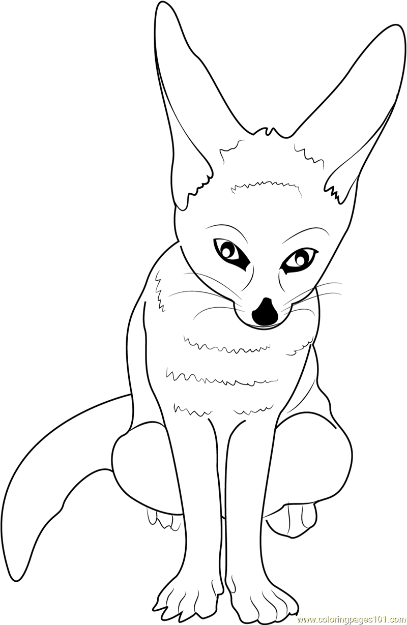 Little Fox Coloring Page