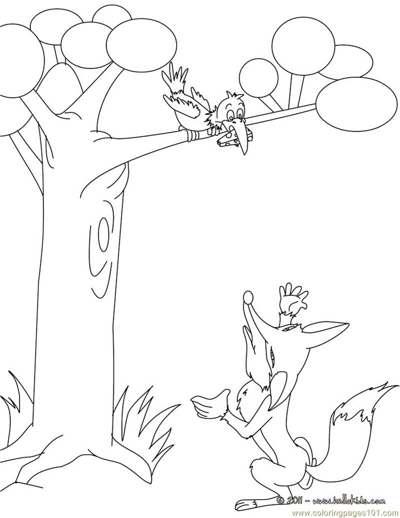 Fox ready Hunting Coloring Page