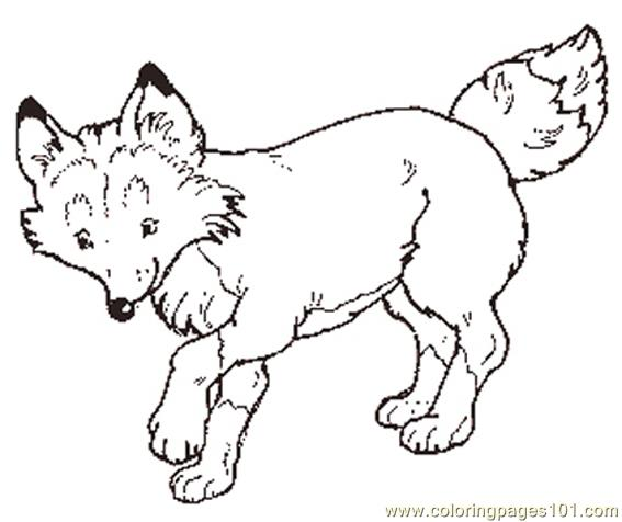 The mitten mural fox Coloring Page