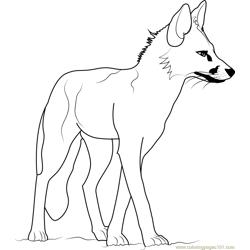 Adult Fox coloring page