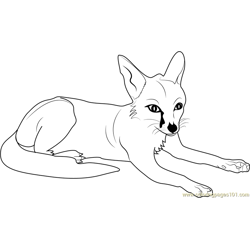 Fox Relaxing Free Coloring Page for Kids