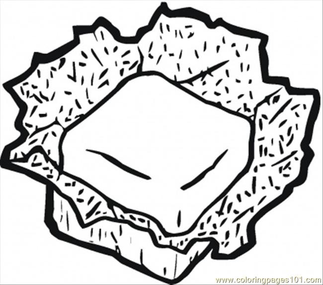 Camembert Coloring Page