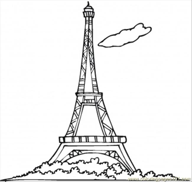 Eiffel Tower Coloring Page - Free France Coloring Pages ...