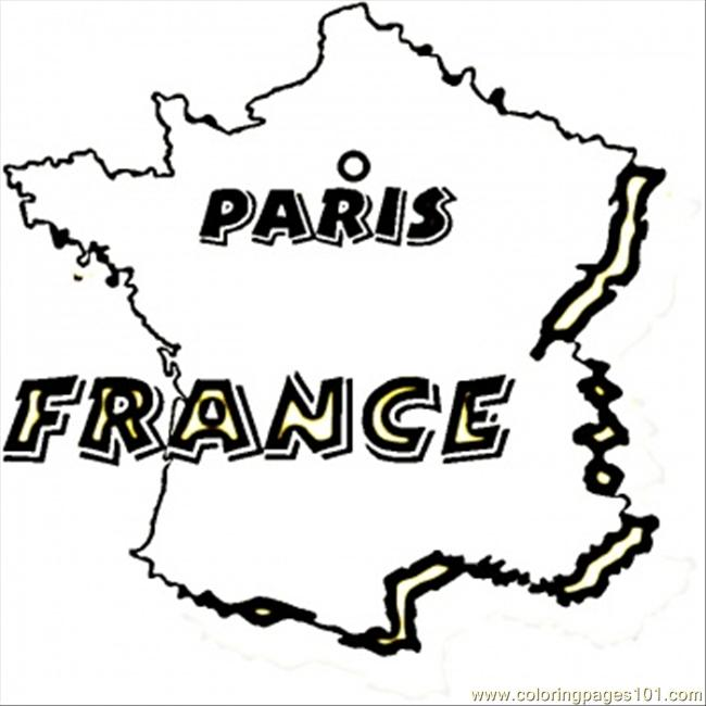 France Paris Coloring Page Free France Coloring Pages