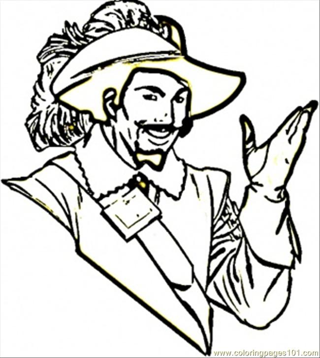 French Musketeer Coloring Page Free France Coloring