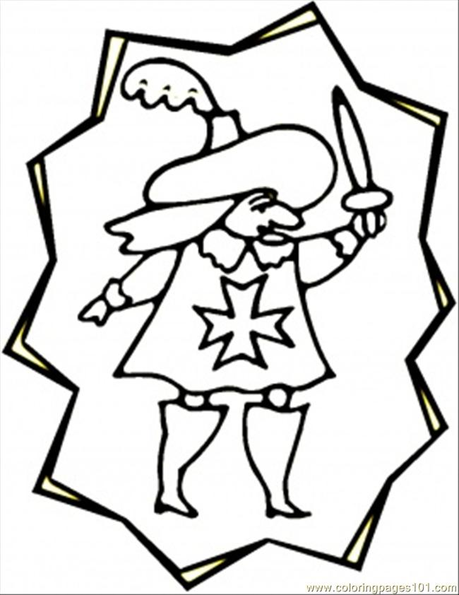 Little Musketeer Coloring Page