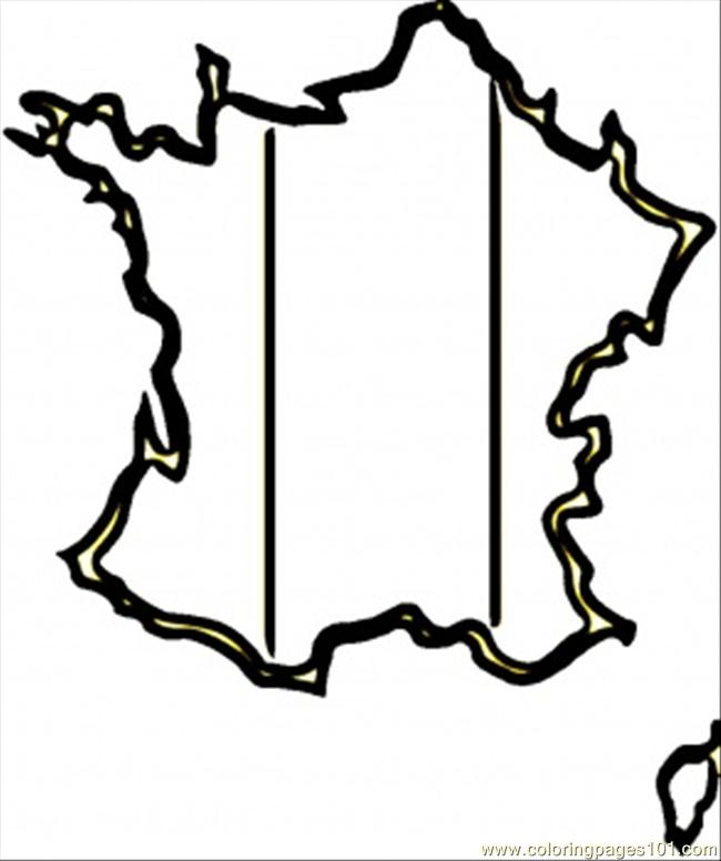 Map Of Francde Coloring Page