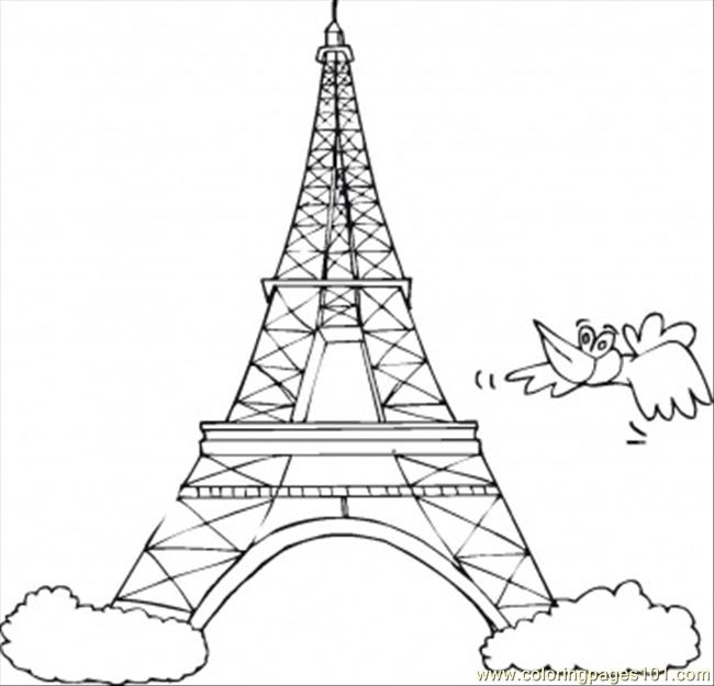 coloring pages of frnce - photo#10
