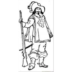 Musketeer coloring page