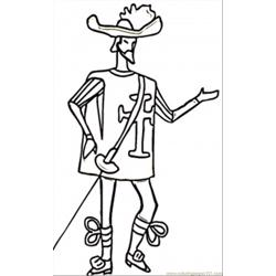 Skinny Musketeer coloring page