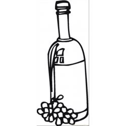 Wine And Grape Free Coloring Page for Kids