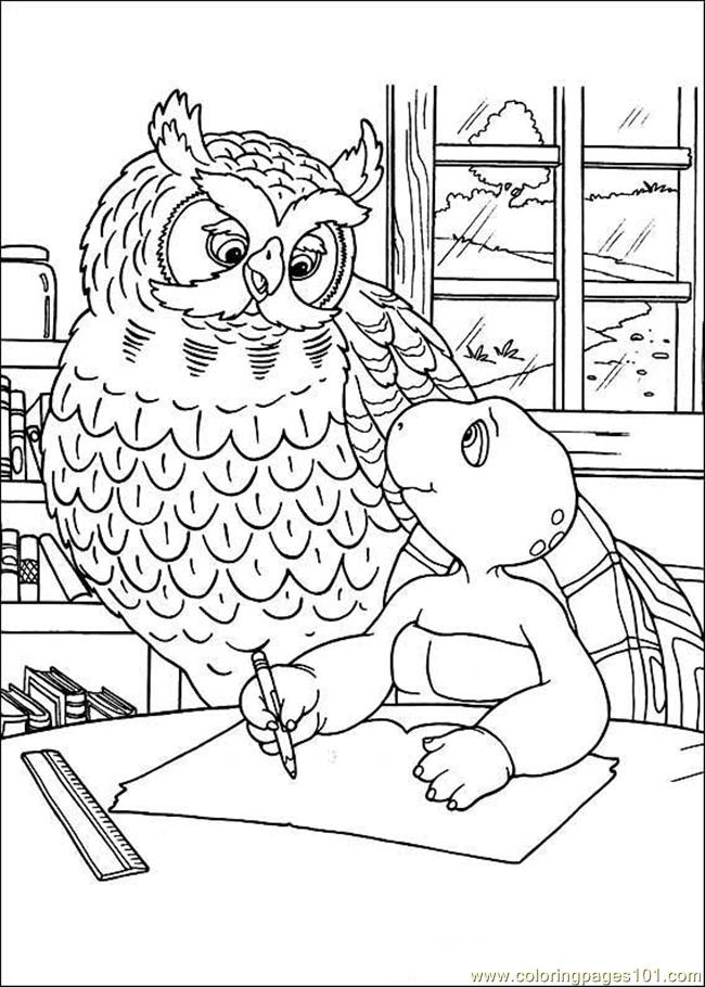 Franklin04 Coloring Page