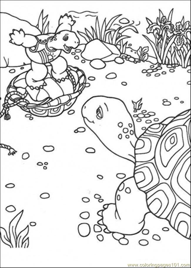 Franklin And His Friends Coloring Page