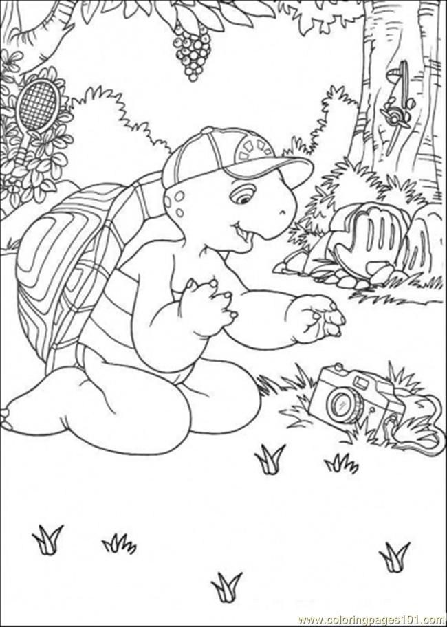 Franklin Have A Camera Coloring Page