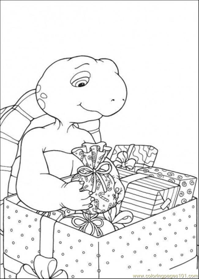 Franklin Have A Lot Of Present Coloring Page