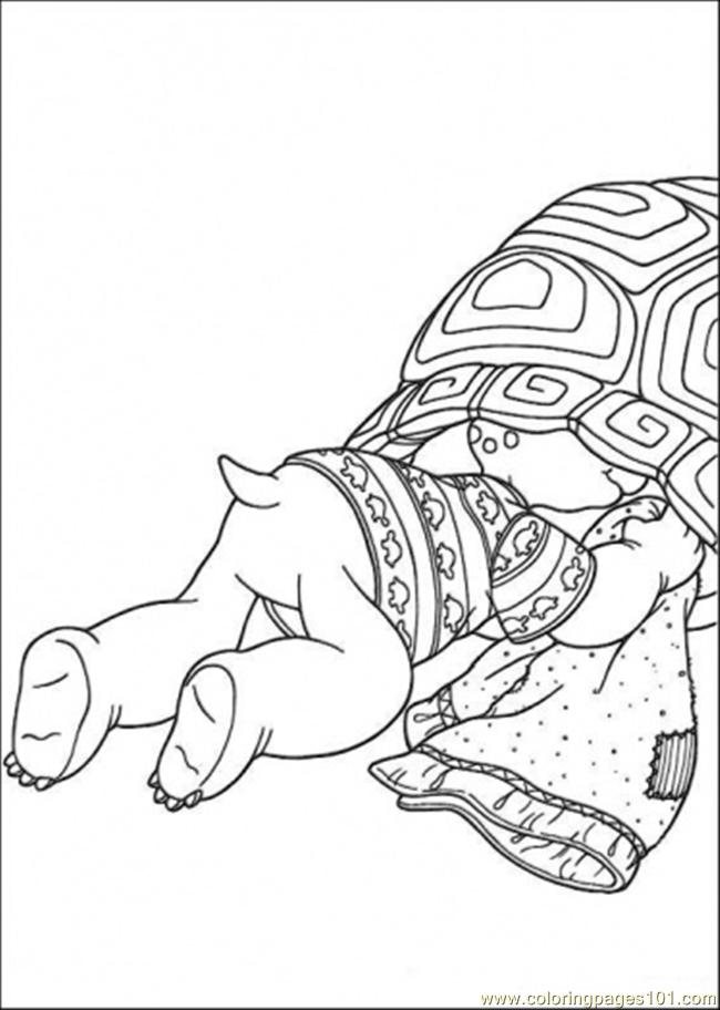 Franklin Is Hiding Coloring Page
