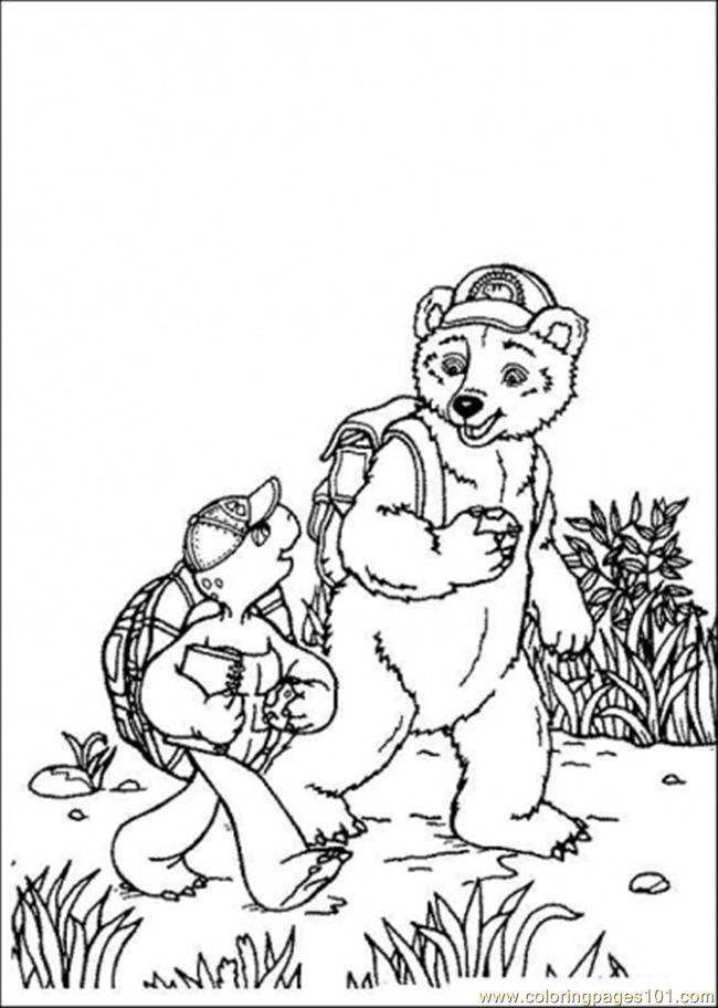 Franklin Is Walking With His Friend Coloring Page