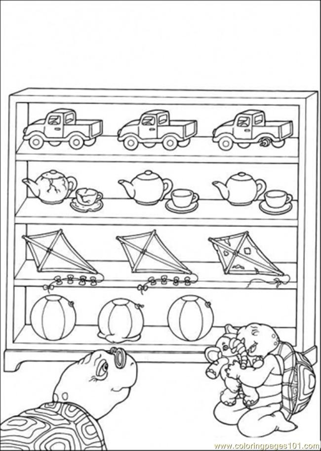Franklin Loves His Toys Coloring Page