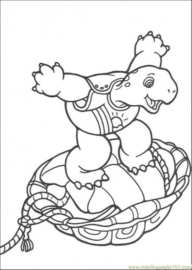 Franklin Plays His Toy Coloring Page