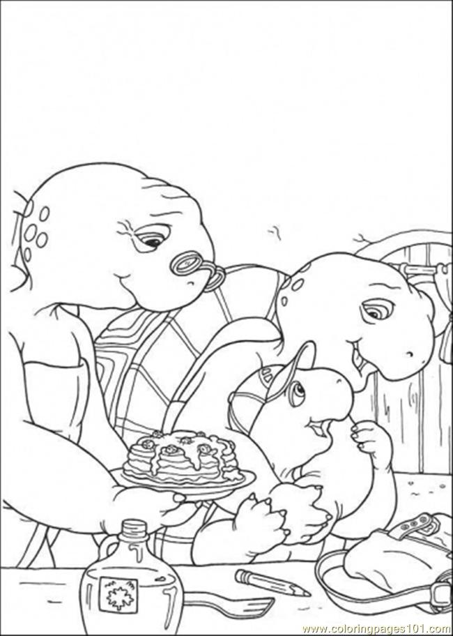 Franklin With His Parent Coloring Page