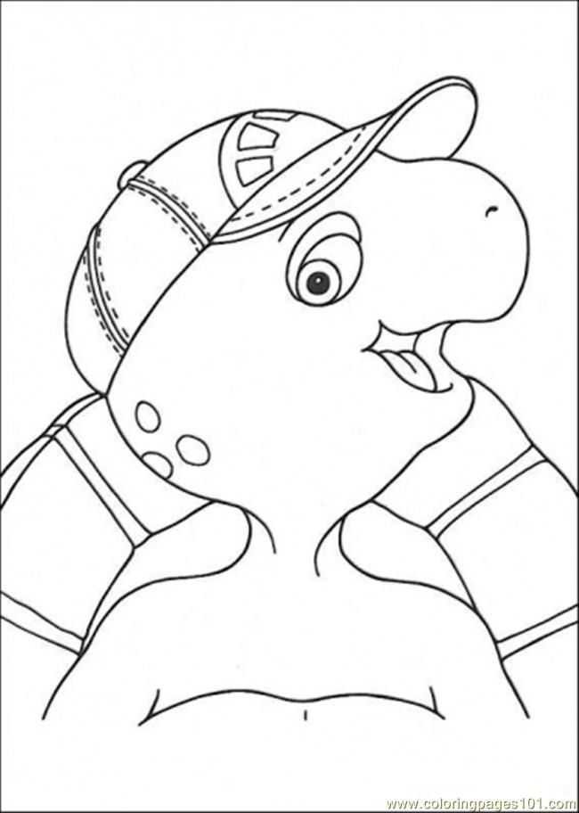 Picture Of Franklin Coloring Page