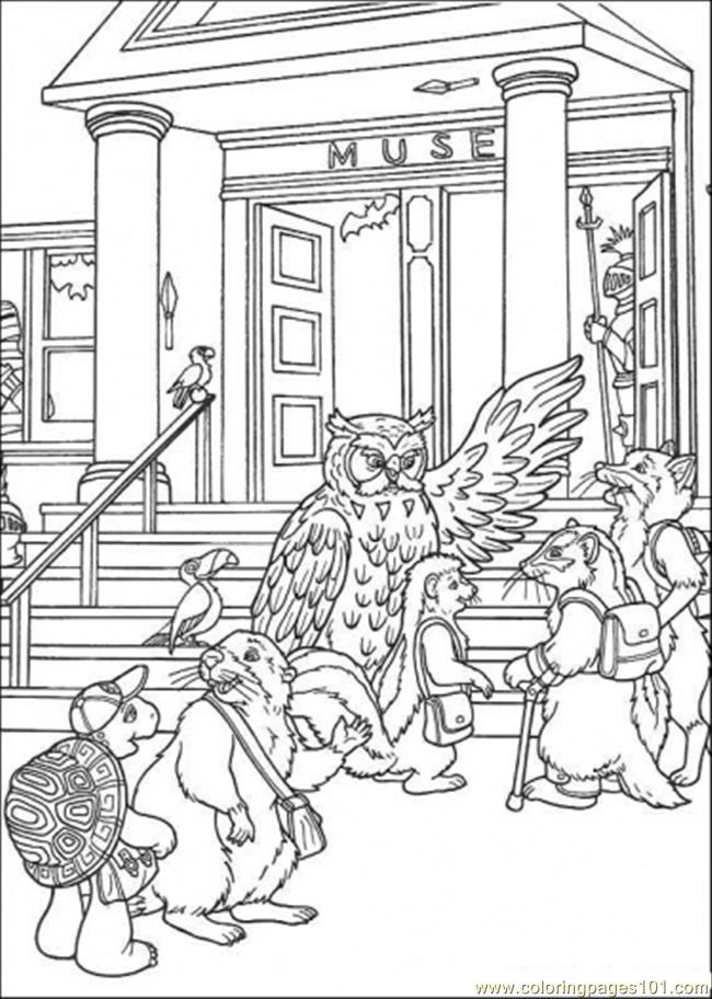 Teacher Leads His Students Coloring Page
