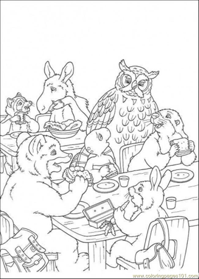 They Are Eating Together Coloring Page