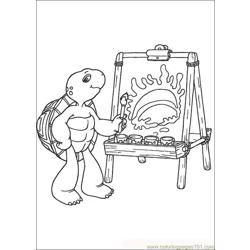 Franklin01 coloring page