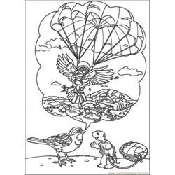That Bird Tells Story To Franklin Free Coloring Page for Kids