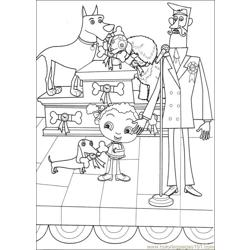 Franny 28 Free Coloring Page for Kids
