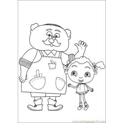 Franny 29 Free Coloring Page for Kids