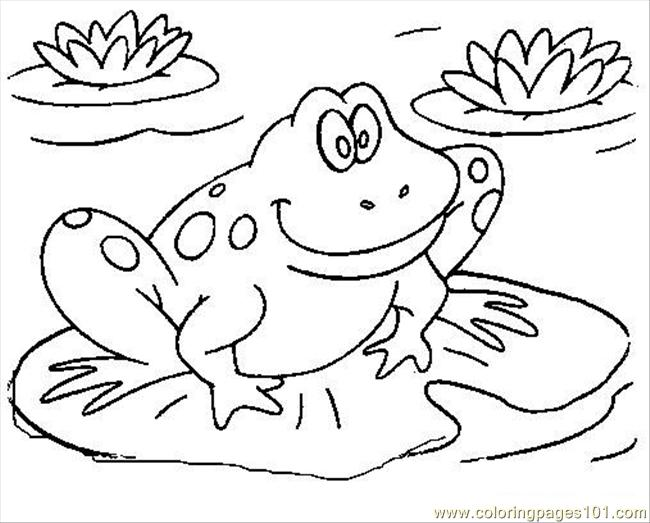 frog7 coloring page - Frog Coloring Pages Printable