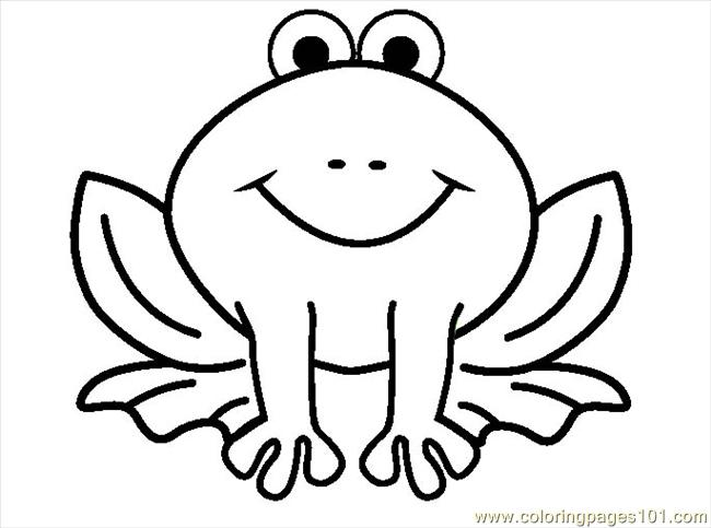Frog Coloring Coloring Page