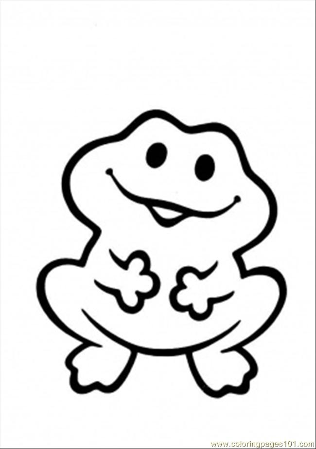 Funny Frog Coloring Page Coloring Page - Free Frog Coloring Pages ...