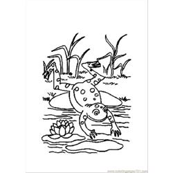 Animals Frog2 Coloring Page