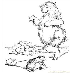 Bear And Frog Coloring Page