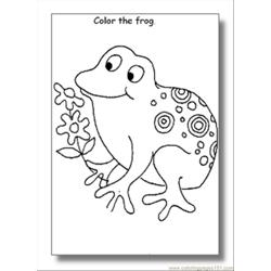 Frog Coloring Pages04