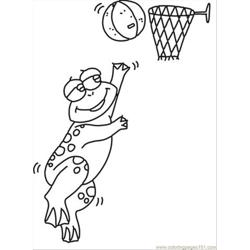 Ll Playing Frog Coloring Page