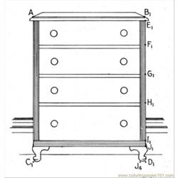 Dresser coloring page