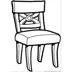 Kitchen Chair Free Coloring Page for Kids