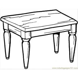 Kitchen Table Free Coloring Page for Kids