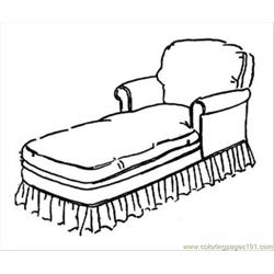 Little Sofa Free Coloring Page for Kids