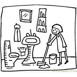 Ng The Bathroom Coloring Page Free Coloring Page for Kids